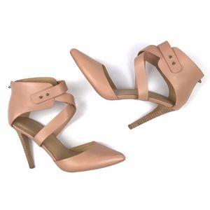 Joe's Jeans Sz 8.5 Heels Blush Pink Strappy Ankle